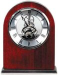 Rosewood Piano Finish Arch Clock Employee Awards