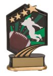 Football Resin Trophy Graphic Star Resin Trophy Awards