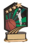 Basketball Resin Trophy Graphic Star Resin Trophy Awards