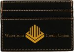 Black/Gold Leatherette Wallet Clip Misc. Gift Awards