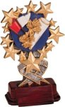 Cheerleading - Starburst Resin Trophy Starburst Resin Trophy Awards
