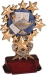 Lamp of Learning - Starburst Resin Trophy Starburst Resin Trophy Awards